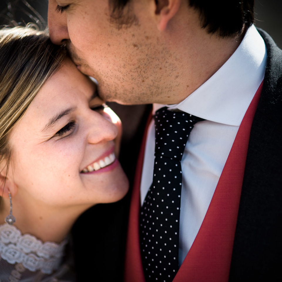 Leire y Bruno en su boda